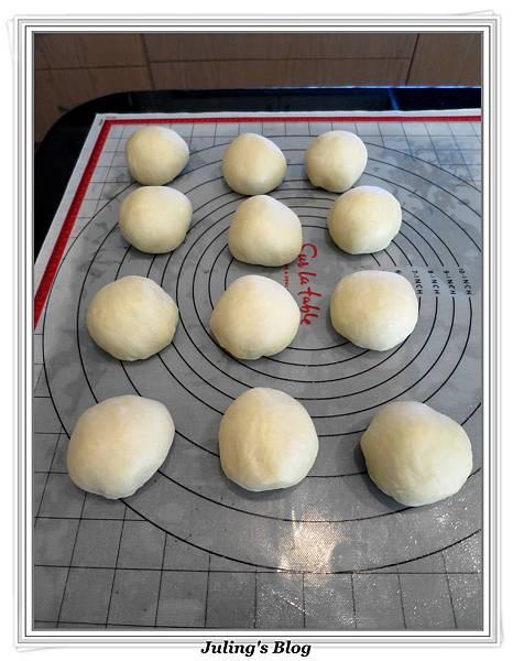 蜂蜜奶香酥底麵包做法5.JPG