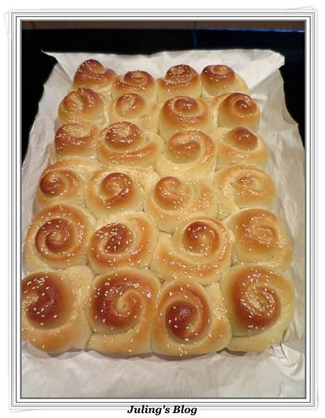 蜂蜜奶香酥底麵包做法22.JPG