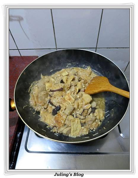 芋香雙菇豆包做法9.JPG