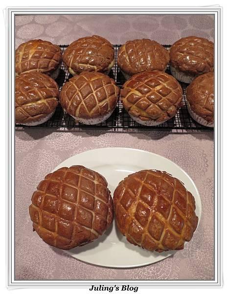 巧克力菠蘿麵包1.JPG