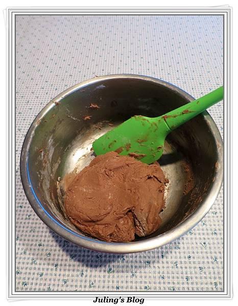 巧克力菠蘿麵包做法12.JPG