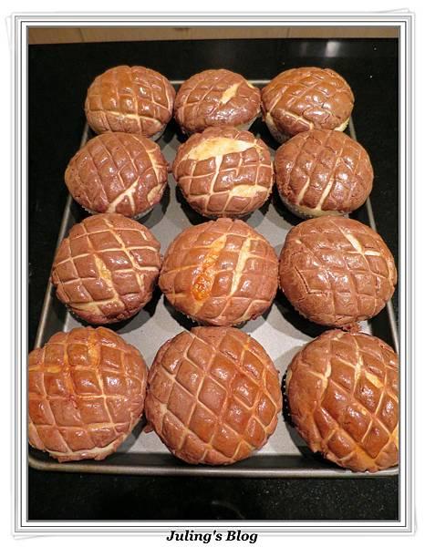 巧克力菠蘿麵包做法25.JPG