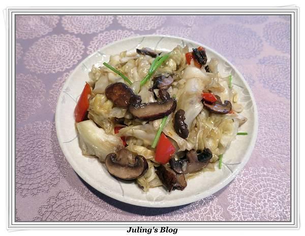 蘑菇炒高麗菜1