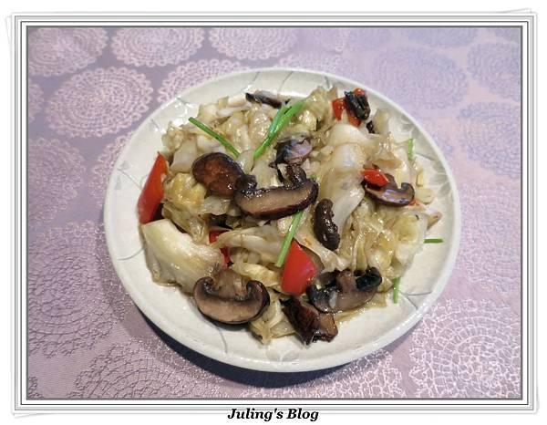 蘑菇炒高麗菜2