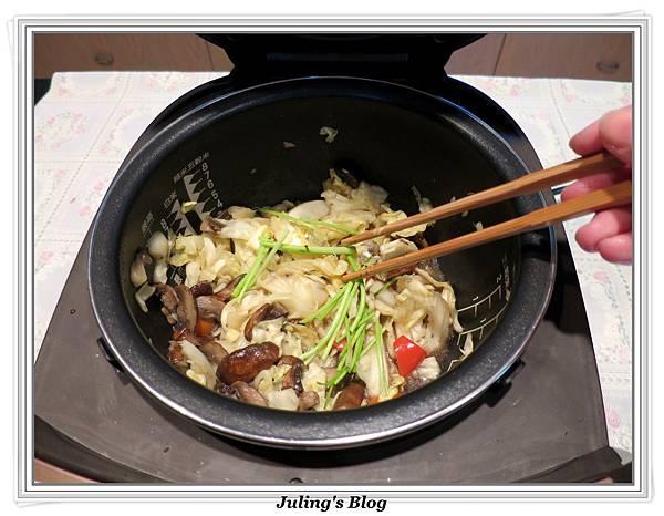 蘑菇炒高麗菜做法8