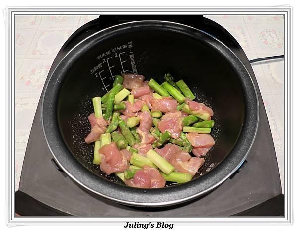 雞肉炒蘆筍做法2