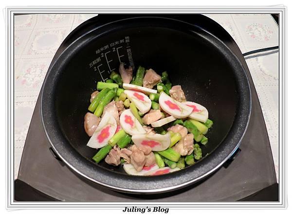 雞肉炒蘆筍做法6