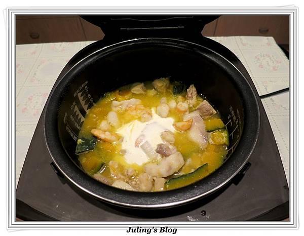 三鮮南瓜煲做法11.JPG