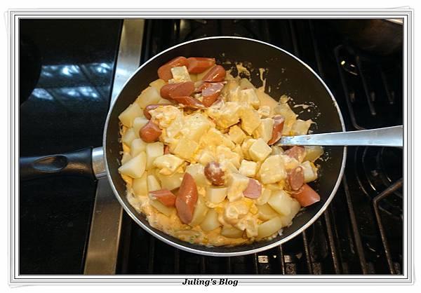 烤熱狗馬鈴薯做法12.JPG