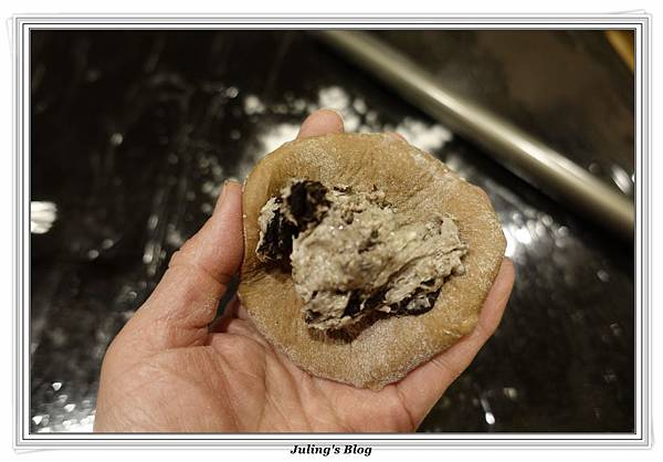 oreo乳酪夾心香蕉巧克力麵包做法13.JPG