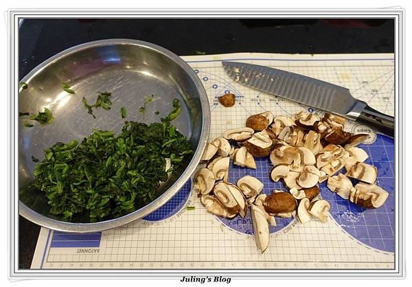 蘑菇菠菜蛋披薩做法6.JPG