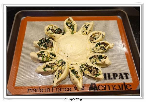 蘑菇菠菜蛋披薩做法22.JPG