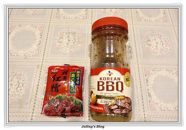 韓式烤肉醬紅糟香腸做法.JPG