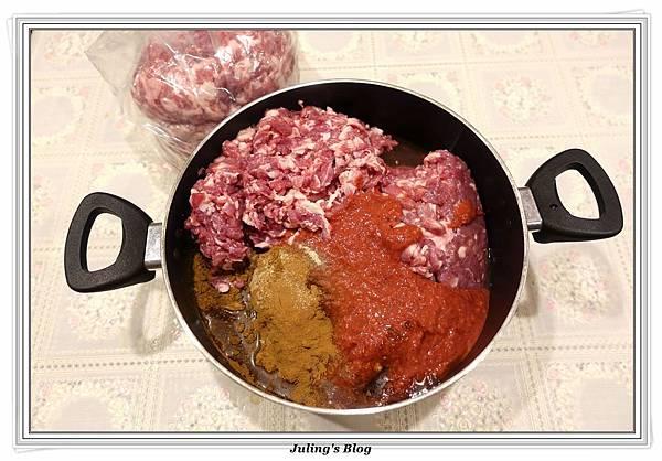 韓式烤肉醬紅糟香腸做法1.JPG