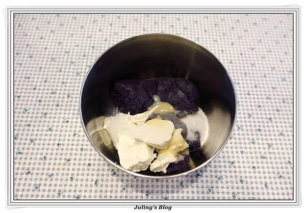 紫薯夾心鬆餅做法4.JPG