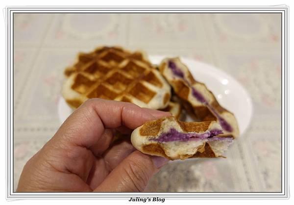 紫薯夾心鬆餅做法18.JPG