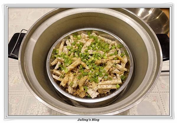 鹹蛋肉末蒸芋絲做法11.JPG