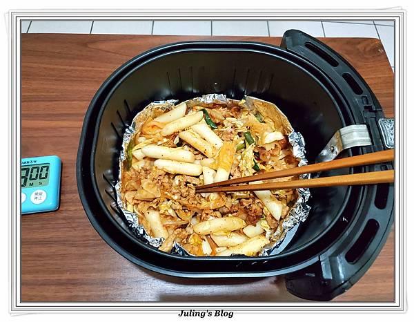 用氣炸鍋做韓式泡菜炒年糕做法12.jpg
