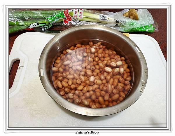 滷花生豬腳%26;臘味栗子五穀米飯做法1.jpg