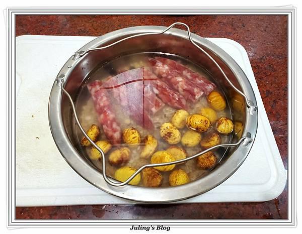 滷花生豬腳%26;臘味栗子五穀米飯做法10.jpg