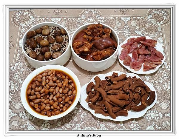 滷花生豬腳%26;臘味栗子五穀米飯做法22.jpg