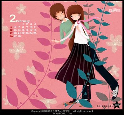Echi monthly wallpaper