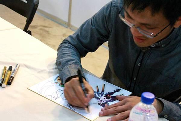 102台中動漫力-漫畫名家彭傑老師簽名會12