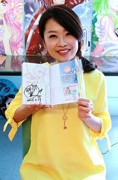 104櫻花祭小威老師簽書會10