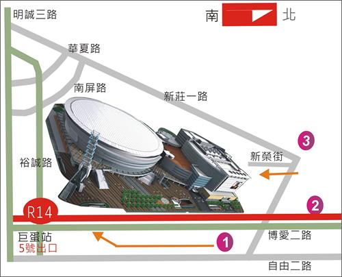 高雄巨蛋地圖02