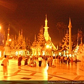2006 In Yangon Shwedagon Pagoda in the night