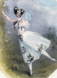 Marie Taglioni in La Sylphide