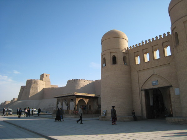 Khiva (希瓦)  Inchan Qala west gate and city wall