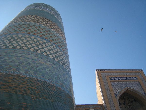 Khiva (希瓦)  Inchan Qala Kalta Minaret and Muhammad Madrassah