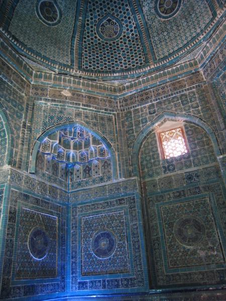 Samarkand (撒爾馬罕) Shahi Zinda Shirin-bek-aga (帖木兒的妹妹) Mausoleum Interior