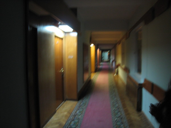 Hotel Aurora mysterious hall way