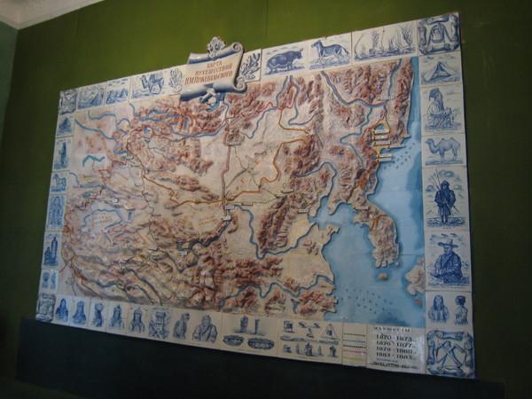 Przhevalsky Museum Map regarding Przhevalsky's expositions