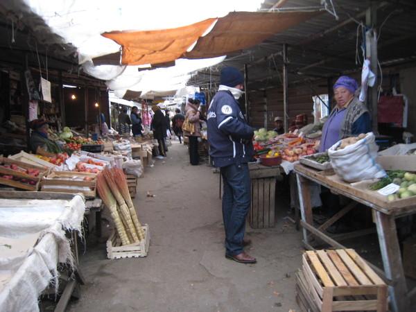 Krygzstan Karakol bazzar outdoor part (final shopping)