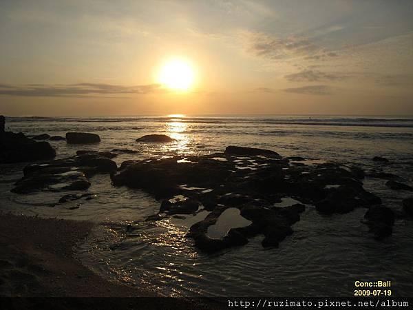 Sunset at Suluban Beach