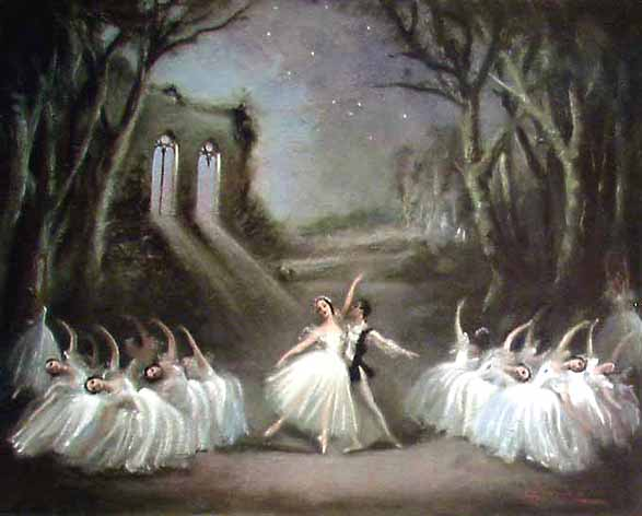 Les Sylphides in oil painting