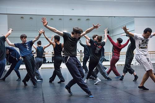 Royal Ballet rehearsing Shecter