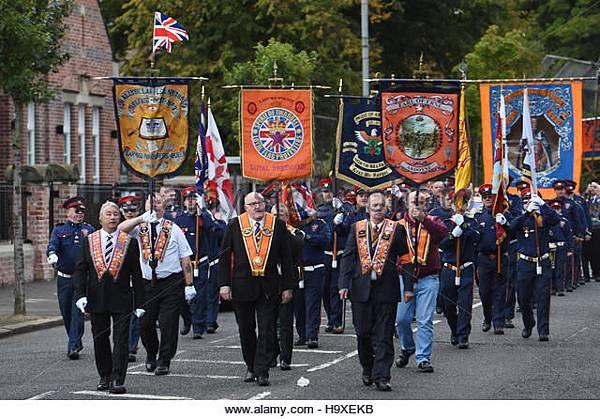 Loyalist Orange Order Parade