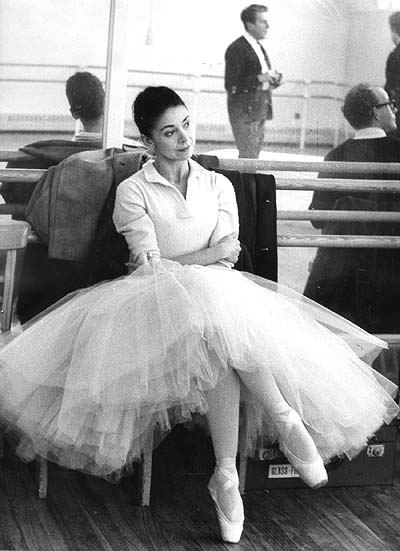 Margot Fontyen sitting in rehearsal room