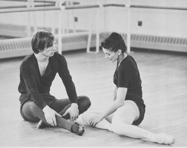 Fonteyn and Nureyev during rehearsal