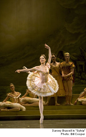 Darcey Bussell in Ashton's Sylvia, in her farewell performance