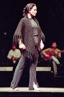 Eva Yerbabuena in rehearsal
