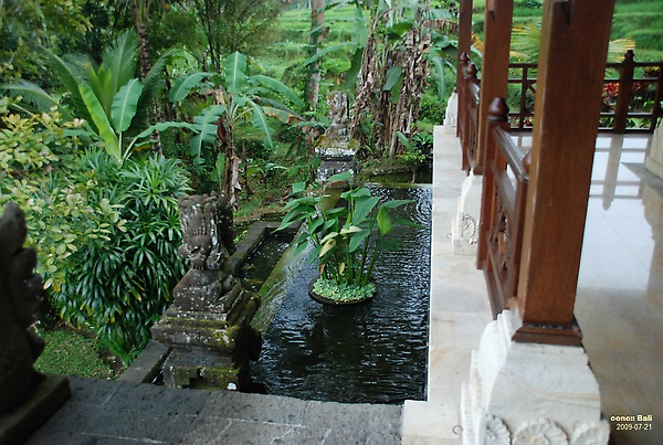 Bali Ubud Puri Wulandari garden setting next to reception