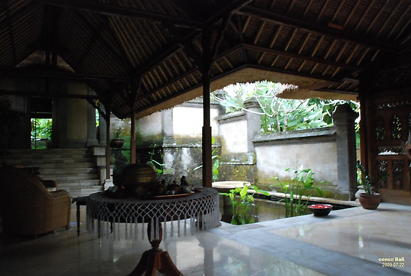 Bali Ubud Puri Wulandari entrance reception area of spa