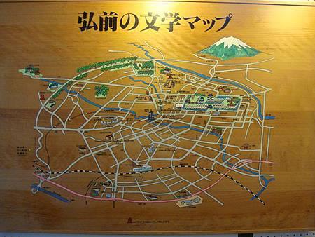 0714265-弘前圖書館內弘前文學地圖.JPG