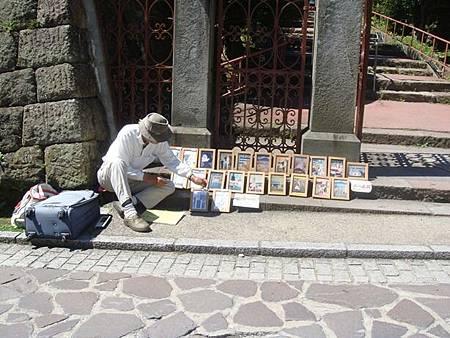 0716105-元町的街頭畫家.JPG