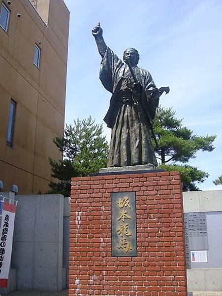0716276-坂本龍馬紀念館對面的雕像.JPG